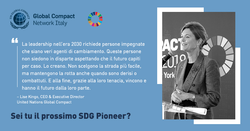 2019 SDG Pioneers digital card Lise ita